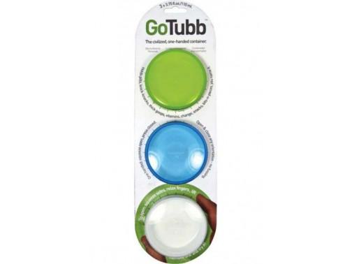 Набор контейнеров humangear GoTubb Medium (прозрачный, зеленый, синий)