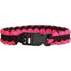 Браслет из паракорда Knotty Boys (черный, розовый - L)