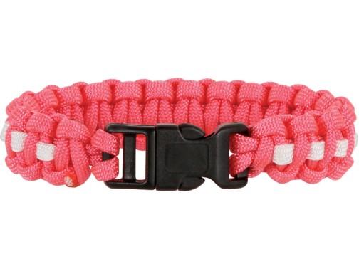 Браслет из паракорда Knotty Boys (розовый, белый - L)