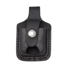 Чехол для зажигалки Zippo (черный, с петлей, открытый)