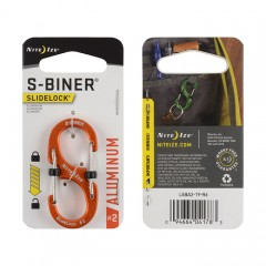 Карабин Nite Ize S-Biner #2 Slidelock алюминий (оранжевый)