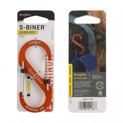 Карабин Nite Ize S-Biner #4 Slidelock алюминий (оранжевый)