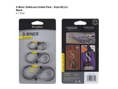 Набор карабинов Nite Ize S-Biner Slidelock (2, 3, 4 - серебристый)