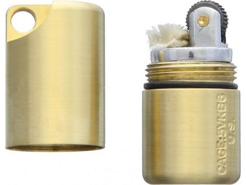 Зажигалка Maratac Brass Split Peanut Lighter Rev 2 (латунь)