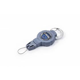 Ретрактор T-Reign, средний, с карабином, серо-голубой