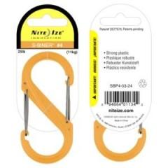 Карабин Nite Ize S-Biner #4 пластик (персиковый)