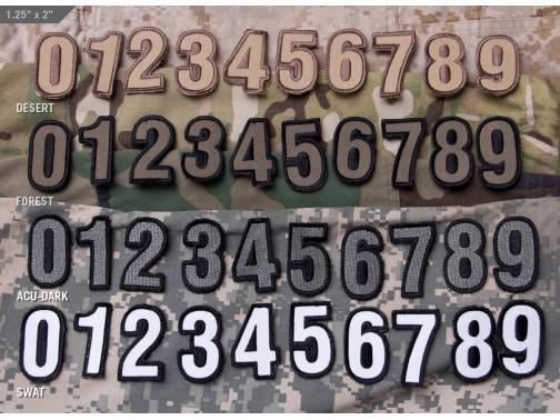 Нашивка-патч Mil-Spec Monkey Tac-Numbers