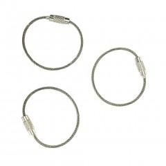 Набор для ключей Everyman Cable Key Rings (серебристый)