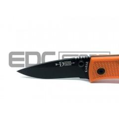 Складной нож Ka-Bar Dozier Small Folder (рукоять - FRN оранжевый, клинок - черный)