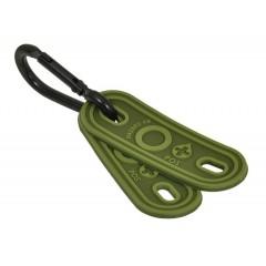 Ярлык с группой крови на шнурки Hazard 4 (зеленый, 2 шт.)