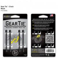 Стяжки Nite Ize Gear Tie 7,6 см (черный, 4 шт.)
