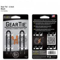 Стяжки Nite Ize Gear Tie 15,2 см (черный, 2 шт.)