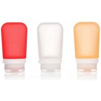Набор контейнеров humangear GoToob+ Medium (красный, оранжевый, прозрачный)