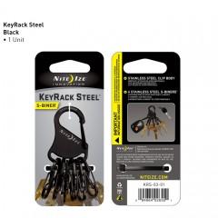 Nite Ize S-Biner KeyRack (стальные карабины, черный)