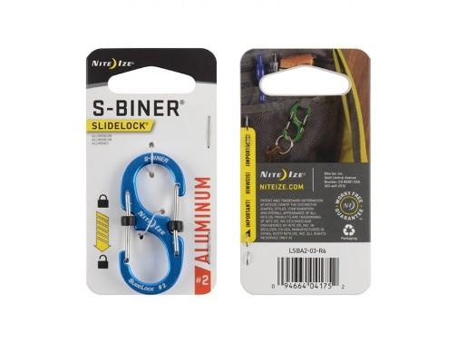 Карабин Nite Ize S-Biner #2 Slidelock алюминий (синий)