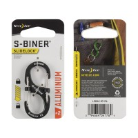 Карабин Nite Ize S-Biner #2 Slidelock алюминий (серый)