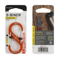 Карабин Nite Ize S-Biner #3 Slidelock алюминий (оранжевый)
