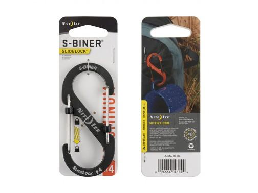 Карабин Nite Ize S-Biner #4 Slidelock алюминий (серый)