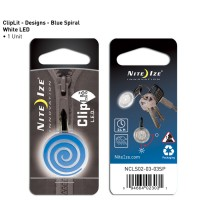 Nite Ize брелок светящийся ClipLit (синяя спираль)