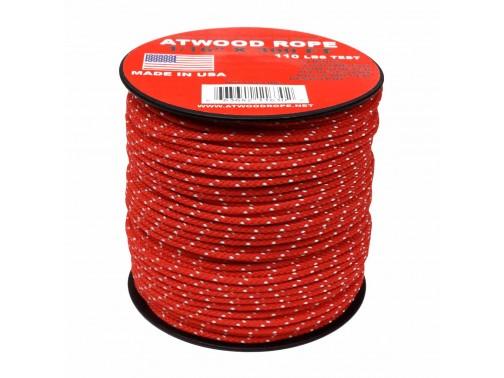 Шнур 1/16 Atwood Rope MFG, 30 м (красно-белый)