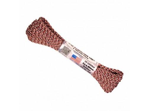 Тактический паракорд Atwood Rope MFG 275, 30 м (красный камуфляж)