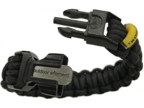 Браслет для выживания Outdoor Element Kodiak (черный)