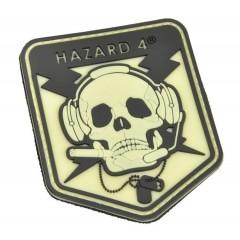 Нашивка-патч Hazard 4 Special Operator Skull (светящийся)