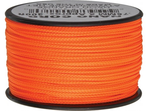 Нанокорд Atwood Rope MFG, 90 м (неон оранжевый)