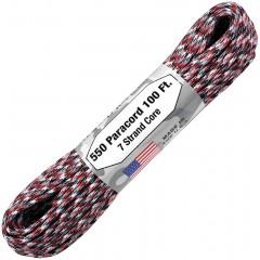 Паракорд Atwood Rope MFG 550, 30 м (красный камуфляж)
