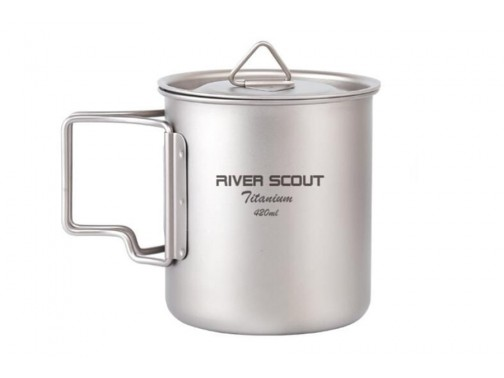 Титановая кружка River Scout с крышкой (420 мл)