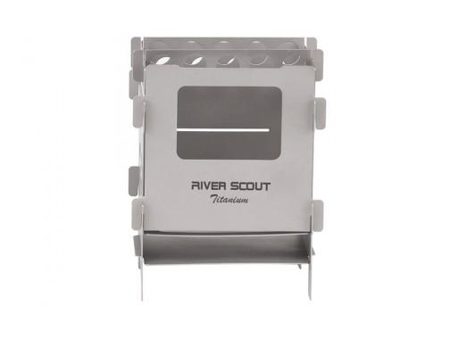Титановая печь-щепочница мультитопливная River Scout