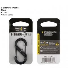 Карабин Nite Ize S-Biner #2 пластик, тактический (черный)