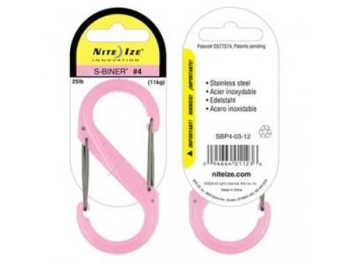 Карабин Nite Ize S-Biner #4 пластик (розовый)