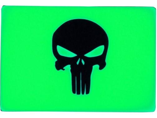Светонакопительная нашивка-патч TEC Accessories Embrite Punisher (зеленый)