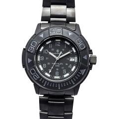 Часы с тритиевой подсветкой Smith and Wesson Diver Black, стальной и резиновый ремешки