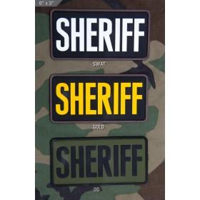 Нашивка-патч Mil-Spec Monkey SHERIFF 6x3 (ПВХ)