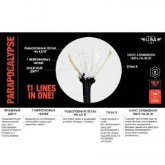 Паракорд для выживания Atwood Rope MFG Parapocalypse, 30 м (черный)
