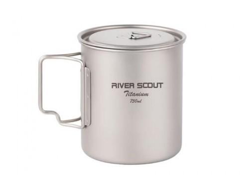 Титановая кружка River Scout с крышкой (750 мл)
