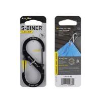 Карабин Nite Ize S-Biner #4 Slidelock (черный)