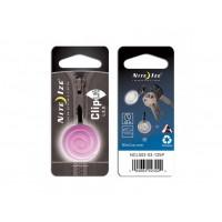 Nite Ize брелок светящийся ClipLit (розовая спираль)