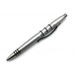 Тактическая ручка Tuff Writer Precision Press (потертый алюминий)