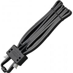 Одноразовые наручники-стяжки UZI Flex Cuff (черный)